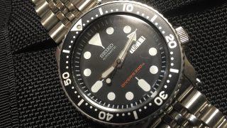 キャンプでの腕時計はセイコーダイバーズウオッチ「ブラックボーイ」